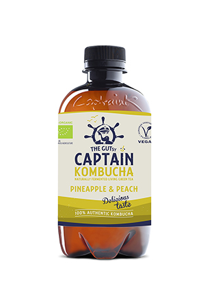 The Gutsy Captain Kombucha Pineapple Peach BIO